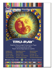 "Tru-Ray® Construction Paper, 9"" x 12"" White"