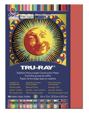 "Tru-Ray® Construction Paper, 9"" x 12"" Red"