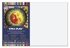 "Tru-Ray® Construction Paper, 12"" x 18"" White"