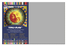 "Tru-Ray® Construction Paper, 12"" x 18"" Gray"