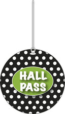 Black and White Dots Hall Pass
