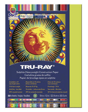 "Tru-Ray® Construction Paper, 9"" x 12"" Brilliant Lime"