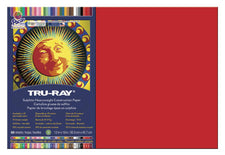 "Tru-Ray® Construction Paper, 12"" x 18"" Festive Red"