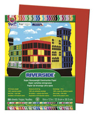 Riverside 9 x 12 Holiday Red Construction Paper, 50 Sheets