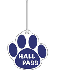 Blue Paw Hall Pass