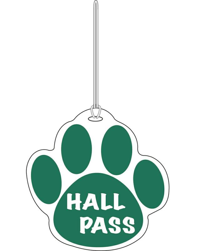 Green Paw Hall Pass