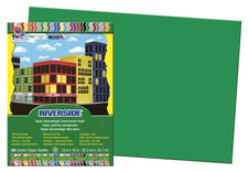 "Riverside® Construction Paper, 12"" x 18"" Holiday Green"