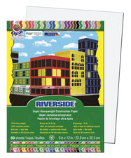 Riverside 9 x 12 White Construction Paper, 50 Sheets