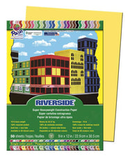 Riverside 9 x 12 Yellow Construction Paper, 50 Sheets