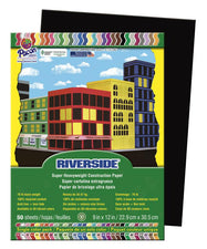 Riverside 9 x 12 Black Construction Paper, 50 Sheets