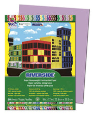 Riverside 9 x 12 Lilac 50 Sheets Construction Paper