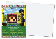 Riverside 12 x 18 White Construction Paper, 50 Sheets