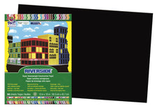 Riverside 12 x 18 Black Construction Paper, 50 Sheets