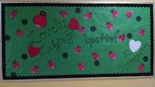 """Lovely Ladybugs 'Spotted' in Kindergarten!"" Valentine's Day Board"