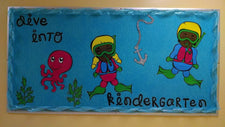 """Dive Into Kindergarten!"" Ocean Themed Bulletin Board"