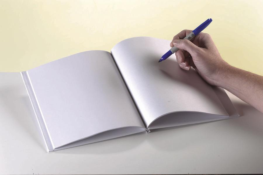 "White Hardcover Blank Book, 6"" x 8"""