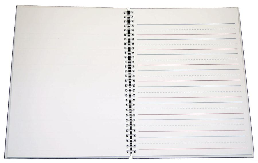 "Hardcover Blank Book, Blue Lined, 8.5""x11"" Portrait"