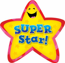 Star Badges Super Star 36Pk