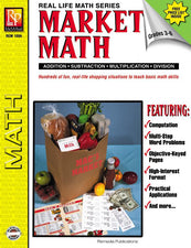 Remedia Publications Real Life Math Series: Market Math Activity Book