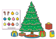 Christmas Tree Mini Bulletin Board Set