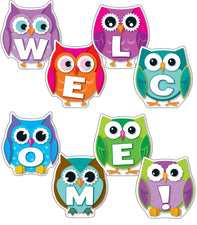 Carson Dellosa Colorful Owls Welcome Bulletin Board Set