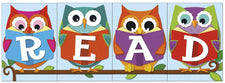 "Colorful Owls ""Whooo"" Loves Reading? Bulletin Board Set"