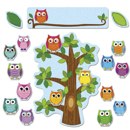 Carson Dellosa Colorful Owls Reading Two Sided Decorations