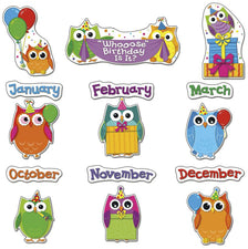 Colorful Owls Birthday Bulletin Board Set