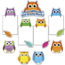 Carson Dellosa Colorful Owls Good Work Bulletin Board Set