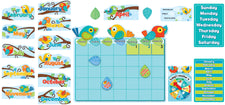 Boho Birds Calendar Bulletin Board Set