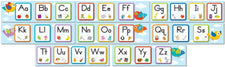 Boho Birds Alphabet Bulletin Board Set