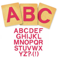 Ellison® SureCut™ Die Set - Block Alphabet, Capital Letters, 5 Inch