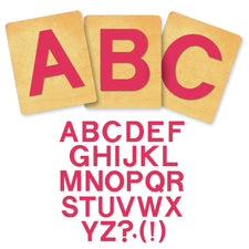 Ellison® SureCut Die Set - Block Alphabet, Capital Letters, 4 Inch