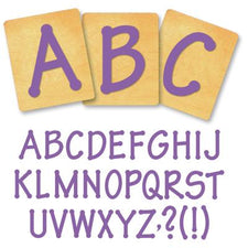 Ellison® SureCut Die Set - Lollipop Alphabet, Capital Letters, 4 Inch