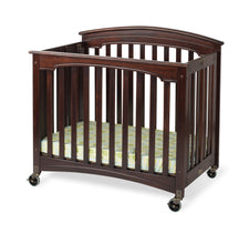 Royale™ Compact EasyRoll™ Fixed-Side Wood Folding Crib, Antique Cherry