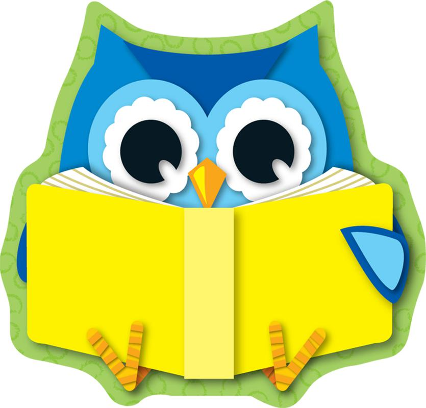 Colorful Owls Reading Mini Cut-Outs
