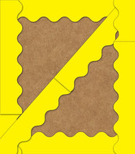 Yellow Scalloped Bulletin Board Border