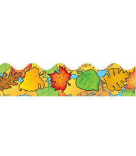 Colored Leaves Scalloped Bulletin Board Border