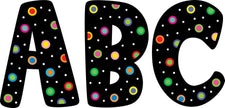 Dots On Black Designer 7In Letters
