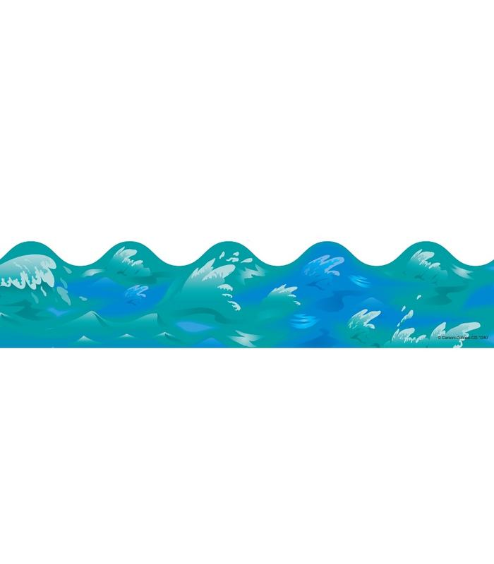 Ocean Waves Scalloped Borders