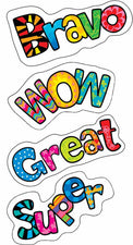 Positive Words Poppin' Patterns Stickers