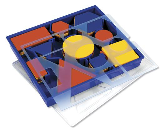 Attribute Blocks in Plastic Storage Tray: Desk Set
