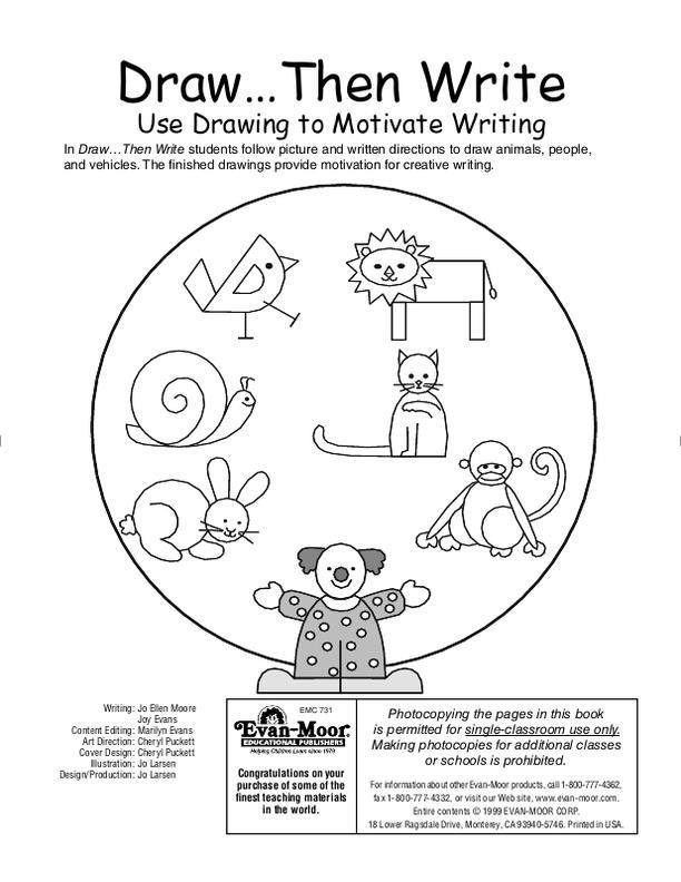 Evan-Moor Draw...Then Write, Grades 1-3 | EMC731