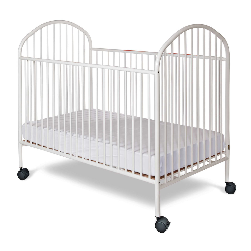 "Classico™ Full-Size Steel Non-Folding Crib, Slatted, 2"" Casters"