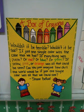 A Box of Crayons - Back-To-School Diversity Bulletin Board