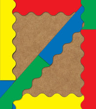 Scalloped Bulletin Board Border Set (Red, Blue, Green, Yellow)