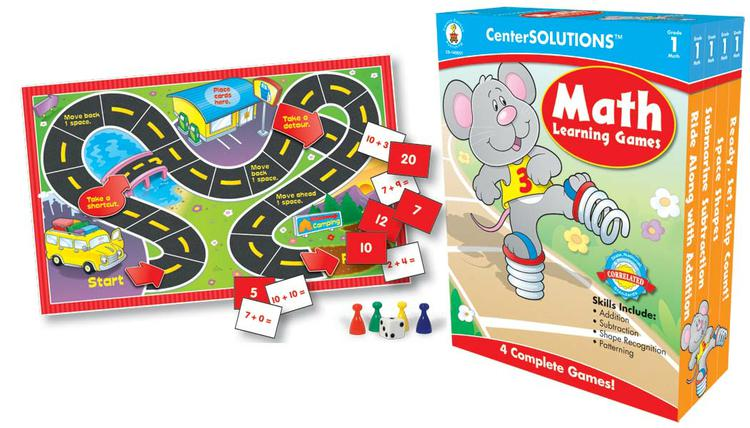 CenterSOLUTIONS™ Math Learning Games, Gr 1