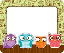 Owls Name Tags