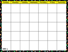 Poppin' Patterns Small Calendar Chart