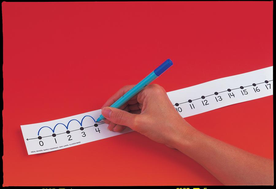 Student Number Lines with Non-Adhesive Backs Desk Tape